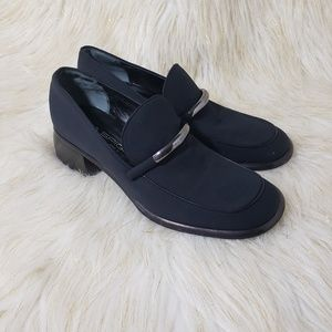 Via Spiga Black Loafers Size 7M